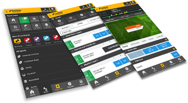 Betfair mobile app and version