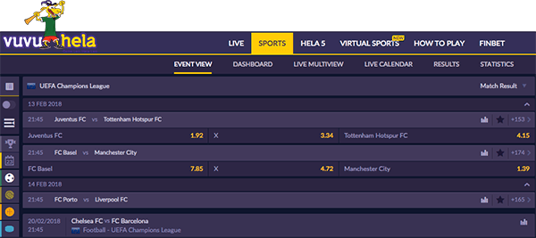 Vuvu Helabet sport betting
