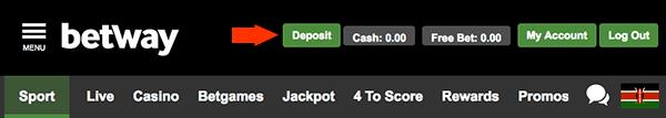 Betway deposit