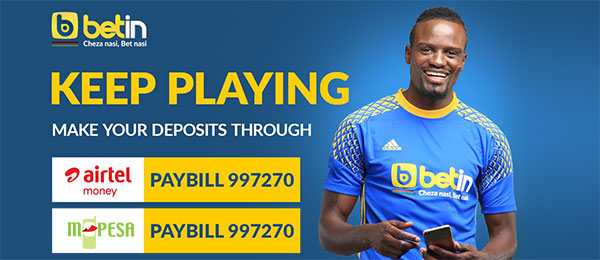 Betin deposit with Mpesa and Airtel