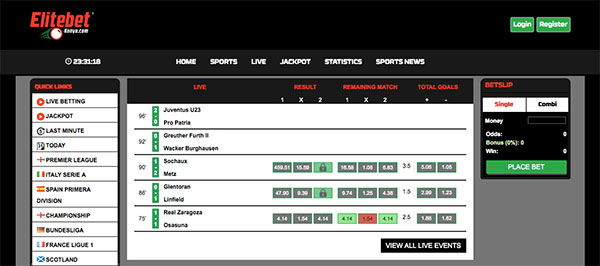 Elitebet Kenya site